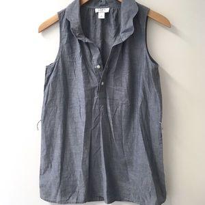 LOFT Chambray tank top blouse, buttons